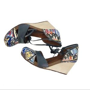 The Art Company Valby Ankle Wrap Wedges, 9.5
